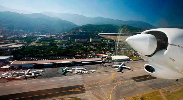 Caracas Airport has two runways.